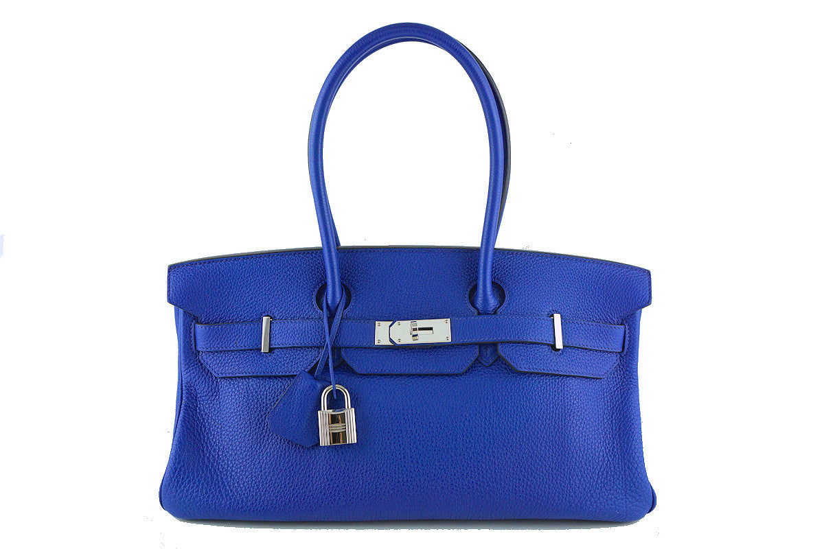 Hermes Shoulder Birkin JPG 2 Bag, Electric Blue 42cm Togo - Boutique Patina  - 1