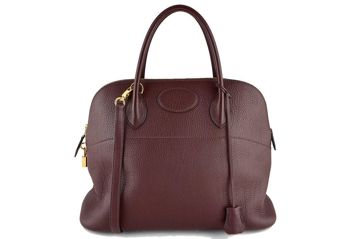 Hermes Havanne Brown Clemence 35/37cm Mou Bolide Shoulder Tote Bag - Boutique Patina  - 1
