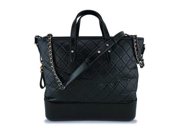 17A Chanel Black Large Gabrielle Tote Bag
