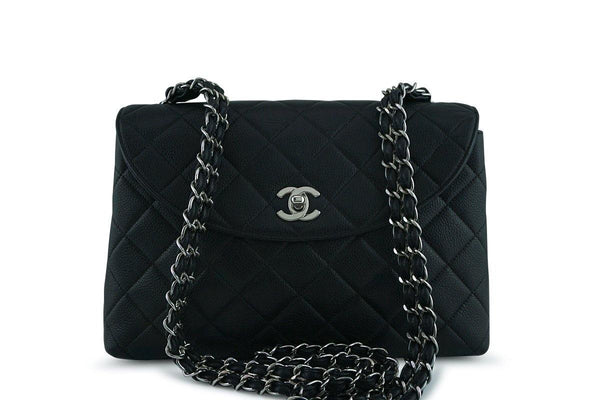 Chanel Black Caviar Classic Crossbody Quilted Flap Bag
