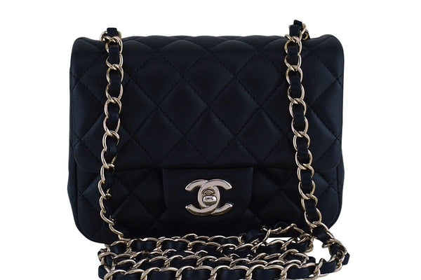 999e1686566 New Chanel Black Classic Quilted Square Mini 2.55 Flap Bag GHW