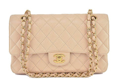 Chanel Beige Clair Caviar Medium Classic 2.55 Double Flap Bag