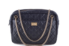 Chanel Black Jumbo Large 2.55 Reissue Camera Case Bag - Boutique Patina  - 1