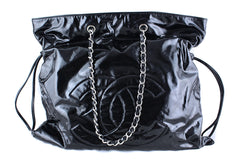 Chanel Black Patent Tote Bag Bons Large XL - Boutique Patina  - 1