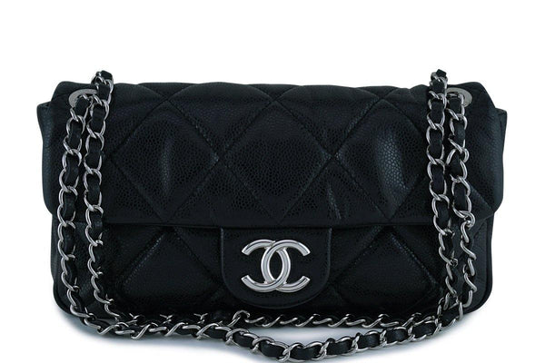 Chanel Black Soft Caviar Medium Quilted Classic Flap Bag