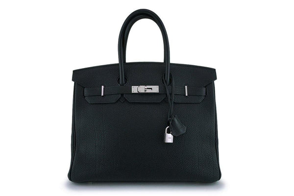 Hermes Black Togo Leather 35cm Birkin Bag Palladium PHW