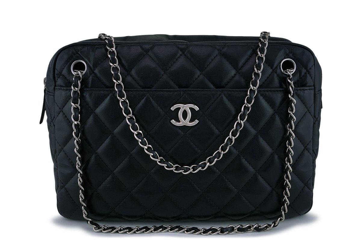 Chanel Large Calfskin Classic Camera Case Bag SHW