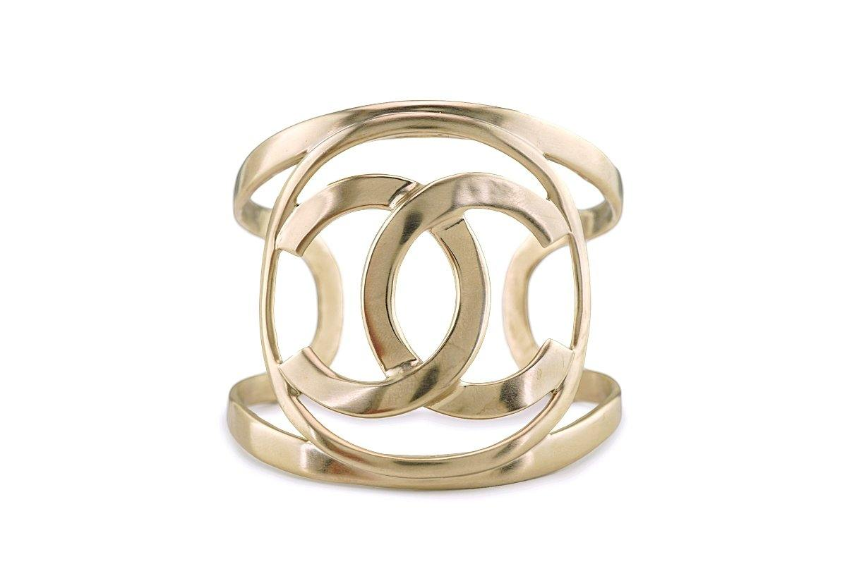 Chanel 16A Champagne Gold Limited Cuff Bracelet - Boutique Patina