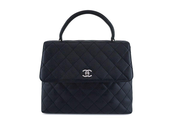 49904db85720 Chanel Black Caviar Classic Quilted Kelly Flap Bag SHW