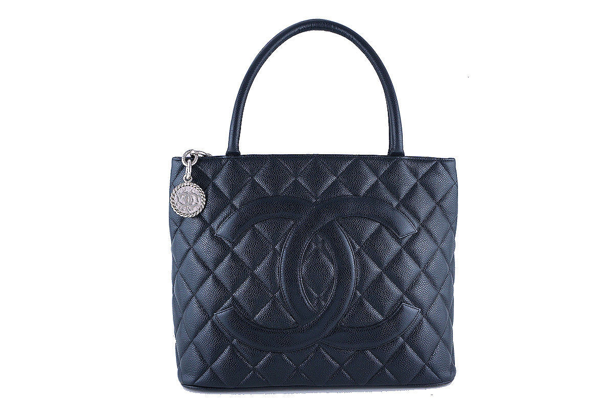 Chanel Black Caviar Classic Quilted Medallion Shopper Tote Bag - Boutique Patina  - 1