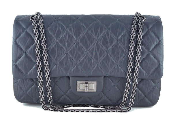 Chanel Gray 12in. 227 Reissue 2.55 Jumbo Classic Double Flap Bag