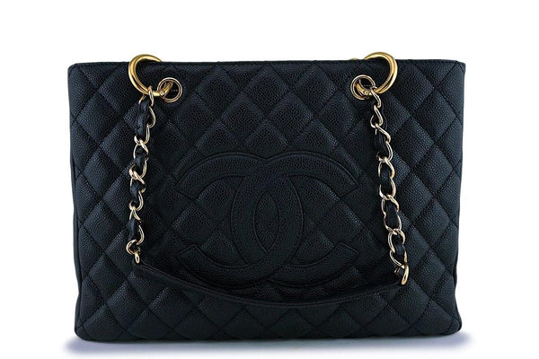 Chanel Black Caviar Grand Shopper Tote GST Bag 24k GHW