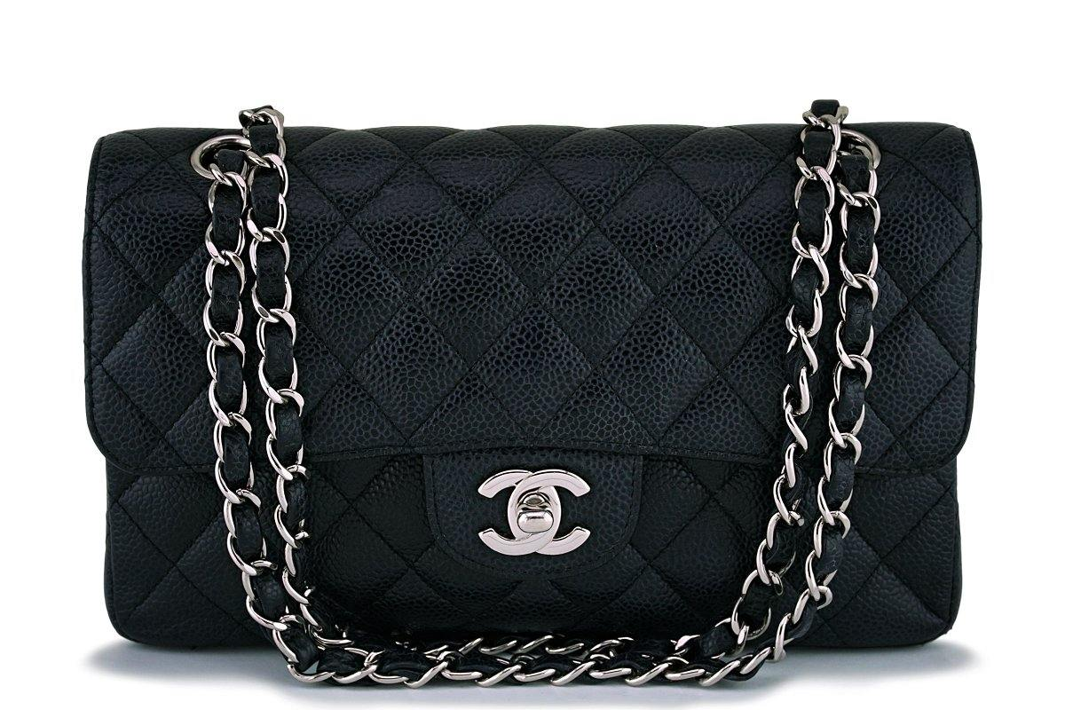 Chanel Black Caviar Small Classic Double Flap Bag SHW - Boutique Patina