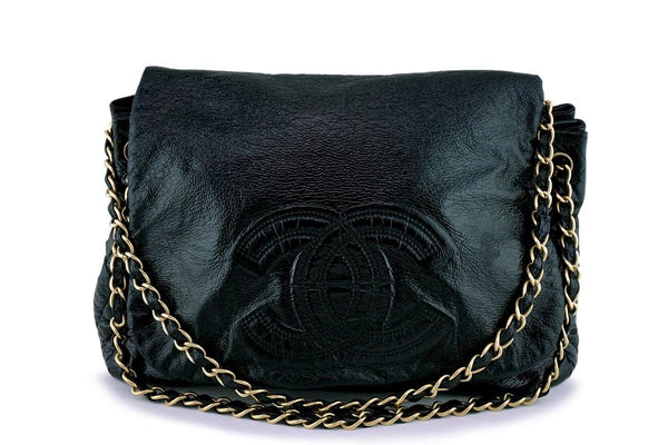 Chanel Patent Large Rock and Chain Flap Bag
