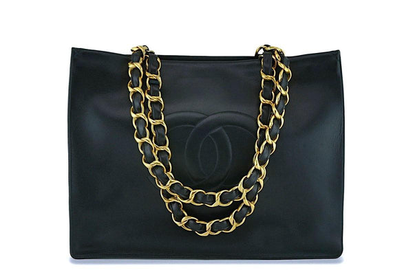 Chanel Vintage Chunky Chain Timeless Tote Bag 24k GHW