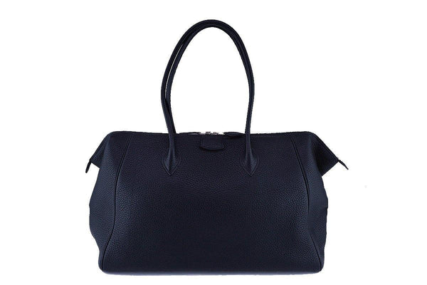 Hermes Black Clemence 37cm Paris Bombay Shoulder Tote Bag