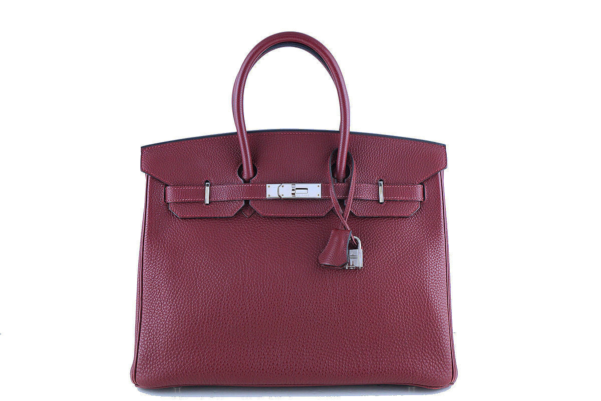 Hermes Red Rouge H 35cm Birkin Bag, Clemence PHW - Boutique Patina  - 1