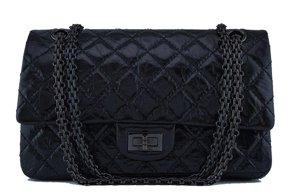 Chanel So Black Classic Reissue 2.55 Double Flap 225 Bag