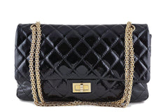 Chanel Black Large Patent 227 Reissue Classic 2.55 Jumbo Flap Bag - Boutique Patina  - 1