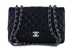 Chanel Black Lambskin Jumbo 2.55 Classic Flap Bag, SHW