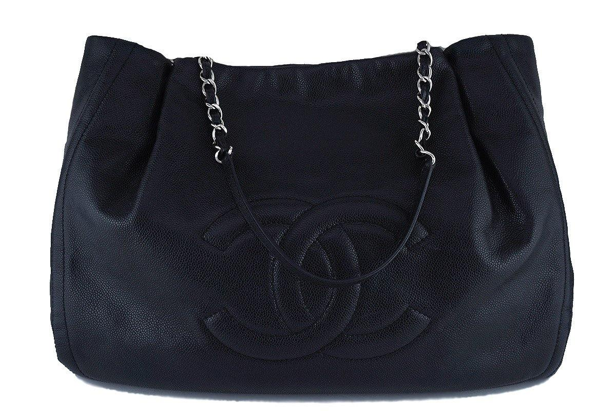 Chanel Black Caviar Timeless Large Shopper Tote Bag