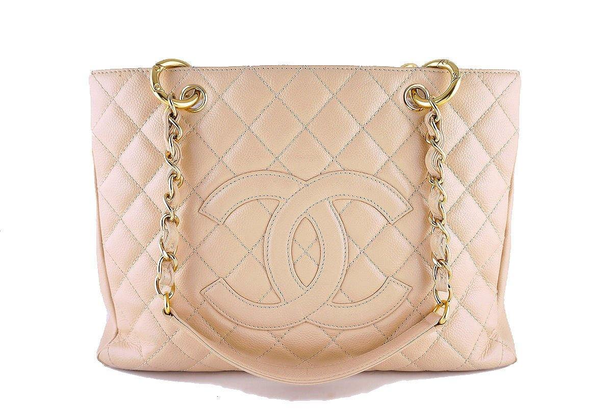 f181ae969816 Chanel Beige Clair Caviar Classic Grand Shopper Tote GST ...