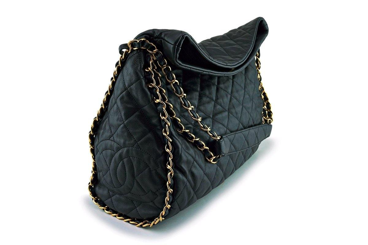 838bd1195e0855 Chanel Black Large Chain Around Tote Ultimate Soft Hobo Bag GHW