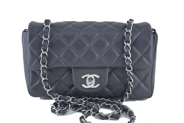 eb6853479929 Chanel Dark Gray Classic Quilted Rectangular Mini 2.55 Flap Bag