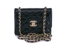 Chanel Glazed Calfskin Ultra Mini Crossbody Classic Flap Bag GHW