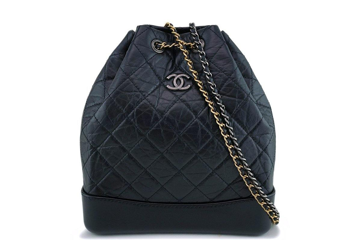 Chanel Black Medium Gabrielle Backpack Rucksack Bag