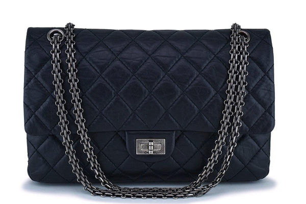 Chanel Black 226 Large Reissue 2.55 Classic Double Flap Bag RHW