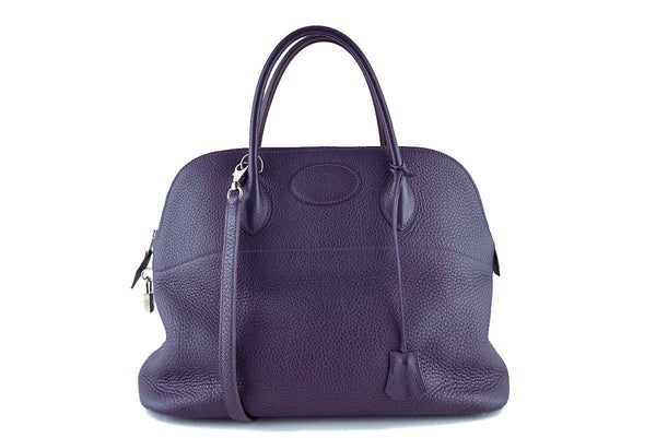 Hermes Raisin Purple 35/37cm Mou Bolide Shoulder Tote Bag
