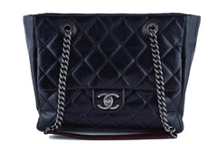 Chanel Black Shopper Classic Flap Tote with Boy Chain Bag - Boutique Patina  - 1