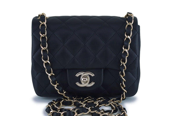 dc08390ac9 New Chanel Black Classic Quilted Square Mini 2.55 Flap Bag GHW