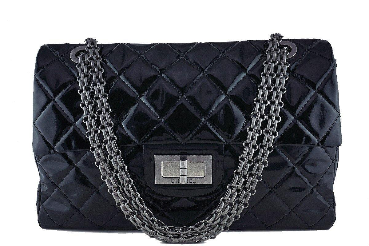 Chanel Black 19in. Black Gigantic Jumbo XXL Reissue Flap Bag