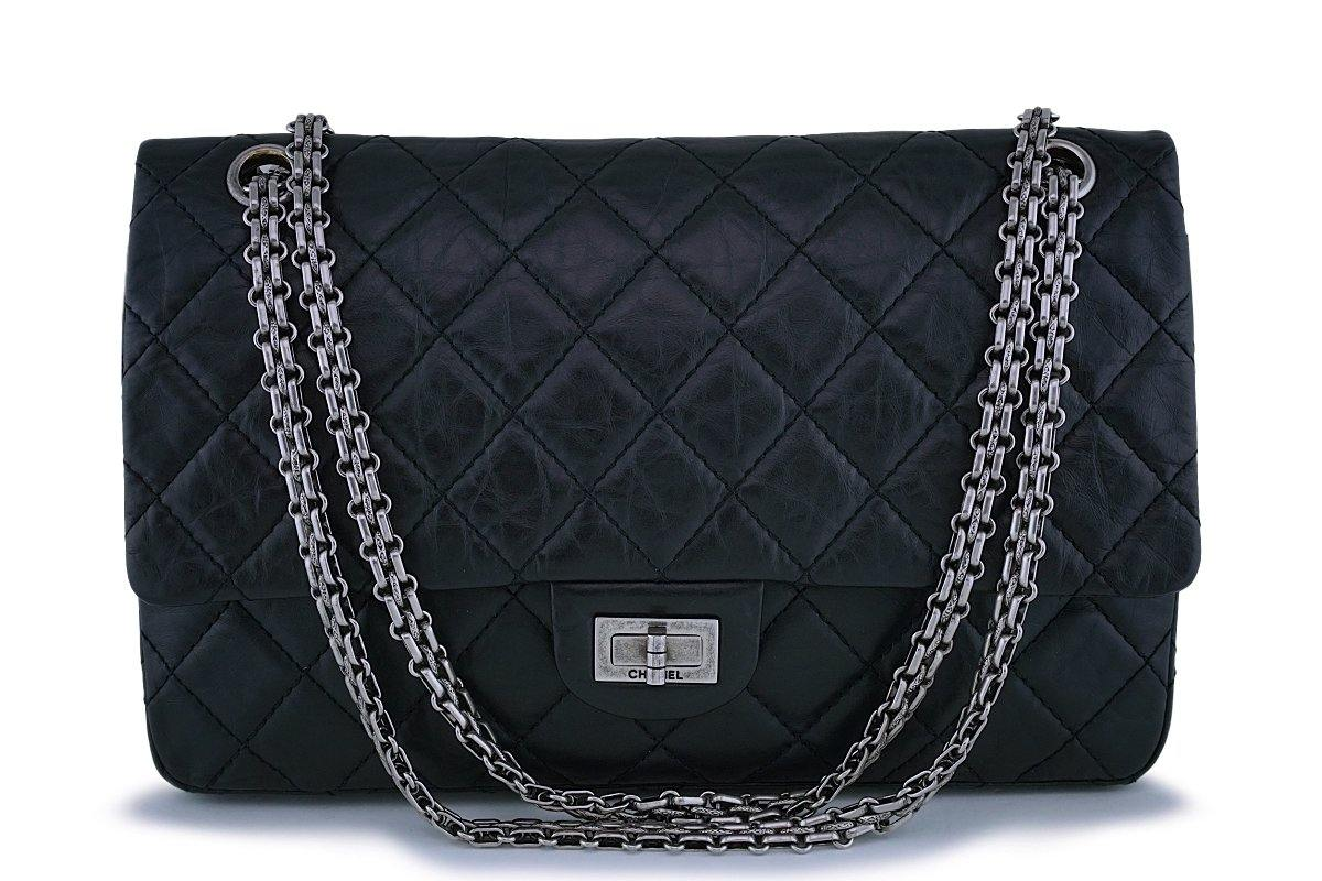 Chanel Black Medium 226 2.55 Reissue Classic Double Flap Bag RHW