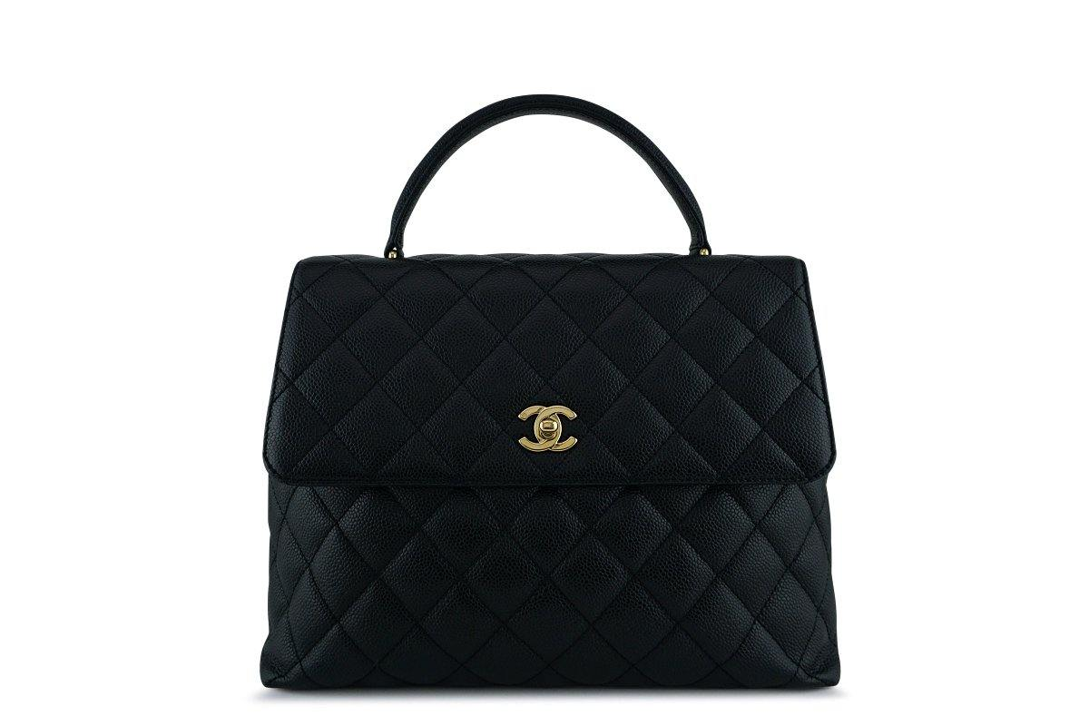 Chanel Black 2.55 Classic Quilted Kelly Flap Bag GHW