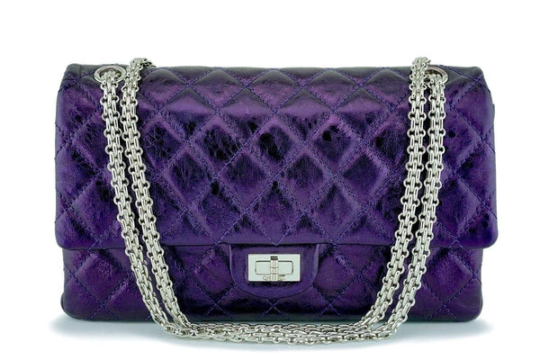 Chanel Metallic Purple 226 2.55 Classic Reissue Flap Bag SHW