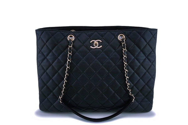 Chanel Black Caviar Timeless Classic Grand Shopper Tote Bag GHW