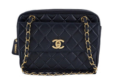 Chanel Black Classic Quilted Flap Camera Case Bag - Boutique Patina  - 1