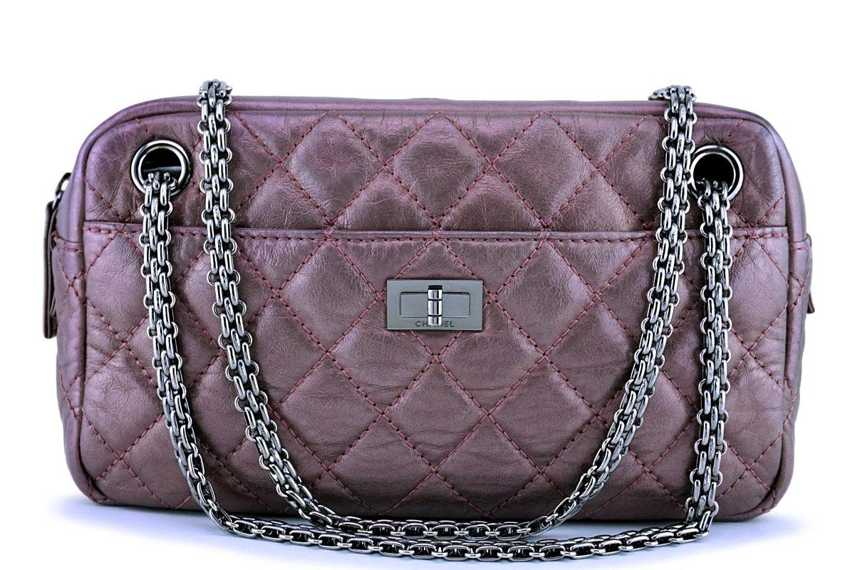 Chanel Lavender Pink Classic 2.55 Reissue Camera Case Bag