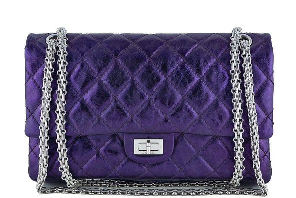 Chanel Metallic Purple Violet 226 Classic Reissue 2.55 Flap Bag