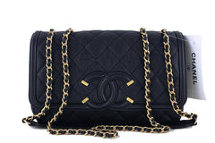 NWT 16S Chanel Black Limited Caviar Filigree Logo Flap Crossbody Bag - Boutique Patina  - 1