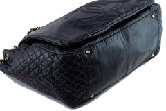 Chanel Black 18in. XXL Patent Rock & Chain Flap Bag