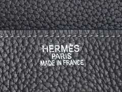 Hermes Graphite 40cm Charcoal Gray Clemence Leather Birkin Bag - Boutique Patina  - 6