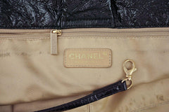 Chanel Black 18in. XXL Patent Rock & Chain Flap Bag - Boutique Patina  - 10