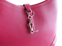 Hermes Framboise Pink Chevre Mysore 31cm Trim Hobo Bag - Boutique Patina  - 2