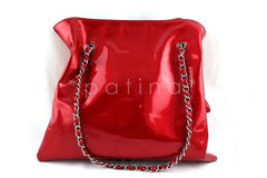 Chanel Red Patent Lambskin Strass Crystals Bon Bons Tote Bag - Boutique Patina  - 2