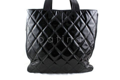 Chanel Black Large Patent Moscow Shopper Tote Bag - Boutique Patina  - 2