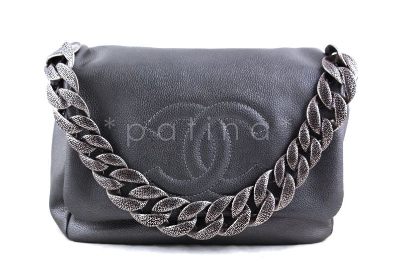 Chanel Gray Caviar 31 Timeless Flap Bag (New)